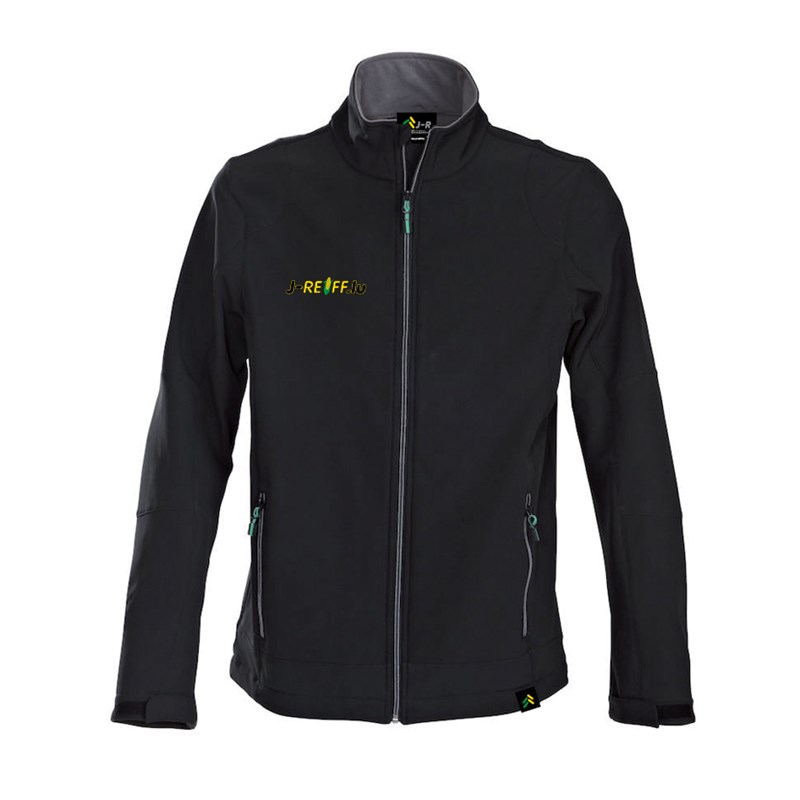 Softshell jacket with logo in black